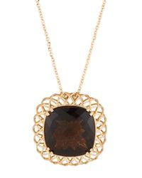 Roberto Coin | Metallic Ipanema 18k Rose Gold Smoky Quartz Pendant Necklace | Lyst