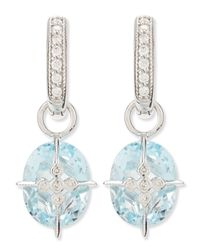 Jude Frances Lacey Sky Blue Topaz Earring Charms