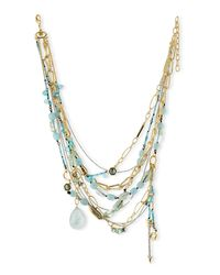 Alexis Bittar | Multicolor Golden Multi-strand Mixed Crystal Necklace | Lyst
