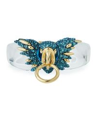 Alexis Bittar   Blue Crystal-encrusted Parrot Break-hinge Bracelet   Lyst