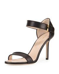 Missoni | Black Leather Closed-heel Sandal | Lyst