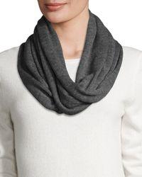 Portolano - Gray Merino Wool Infinity Scarf - Lyst