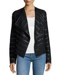 Bagatelle | Black Faux-leather And Faux-suede Jacket | Lyst