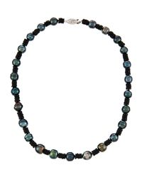 Belpearl - Tahitian Black Pearl & Spinel Necklace - Lyst