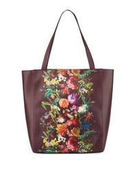 Elliott Lucca | Red Bali Floral Faux-leather Tote Bag | Lyst