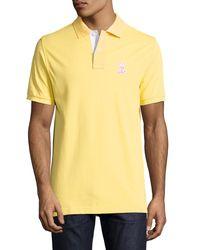 Psycho Bunny | Yellow Bunny Pima Polo Shirt for Men | Lyst