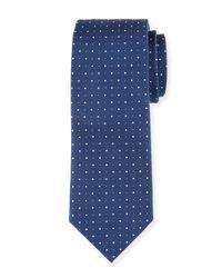 Neiman Marcus Red Dot-print Silk Tie for men