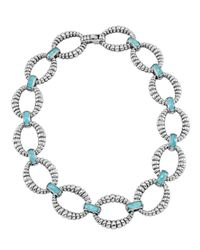 Lagos | Blue Venus Turquoise Doublet Fluted Link Necklace | Lyst