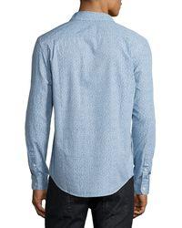 Original Penguin - Blue Floral-print Cotton Shirt for Men - Lyst