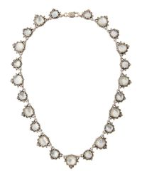 Konstantino - White Aura Silver & Mother-of-pearl Cushion Necklace - Lyst