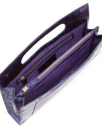 Nancy Gonzalez | Purple Top-handle Crocodile Clutch Bag | Lyst