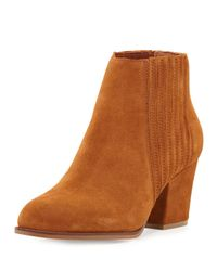 Steven by Steve Madden | Brown Hagan Suede Gored Bootie | Lyst