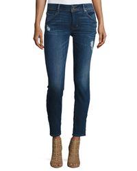 Hudson Jeans | Blue Collin Flap-pocket Ankle Skinny Jeans | Lyst