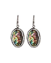 Panacea | Multicolor Luxe Pave Abalone-hue Drop Earrings | Lyst