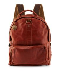 Will Leather Goods | Brown Felix Dome Leather Backpack | Lyst
