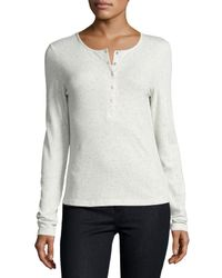 The Fifth Label | Natural Kool Thing Long-sleeve Henley Top | Lyst