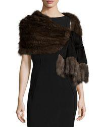 Gorski | Black Sable-fur Fringe Cashmere Wrap | Lyst