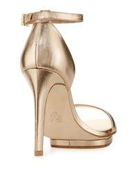 Pelle Moda Natural Taft Leather Platform Sandal