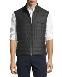 Luciano Barbera | Gray Wool Quilted Chanel Vest for Men | Lyst
