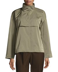 Lafayette 148 New York Green Tiegs Snap-front Topper Jacket