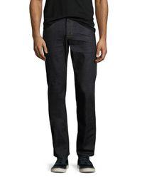 Hudson | Blue Byron Straight-leg Denim Jeans for Men | Lyst
