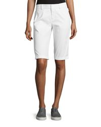 Vince | White Twill Bermuda Shorts | Lyst
