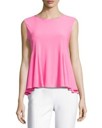 Cece by Cynthia Steffe | Pink Swing-knit Sleeveless Top | Lyst