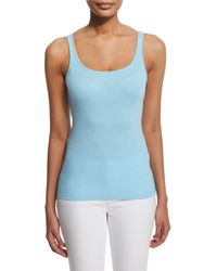 Eileen Fisher - Multicolor Scoop-neck Long Slim Tank - Lyst