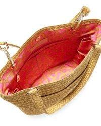 Eric Javits Multicolor Squishee® Straw Clip Ii Tote Bag