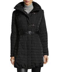 Gorski Black Apres-ski Fur-collar Puffer Jacket