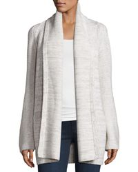 VINCE | White Open-front Car Coat Sweater | Lyst
