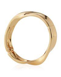 Lydell NYC - Metallic Twisted Hinged Bangle Bracelet - Lyst