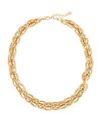 Lydell NYC | Metallic Golden Chain Collar | Lyst
