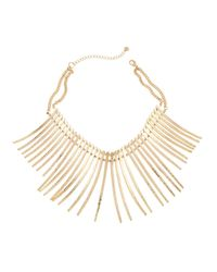 Lydell NYC | Metallic Spike Statement Collar Necklace | Lyst