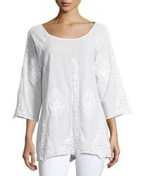 XCVI | White Lace-inset Tunic | Lyst