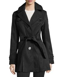Via Spiga | Black Water-resistant Belted Trench Coat | Lyst