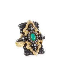 Armenta - Metallic Old World Pointed Cross Doublet Ring W/ Mixed Diamonds - Lyst
