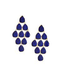 Ippolita | Blue 18k Rock Candy Cascade Earrings In Lapis | Lyst