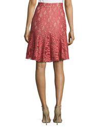 Alexis Pink Braxten Lace Flared Godet Skirt