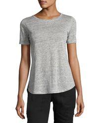 Vince   Gray Short-sleeve Linen Jersey Tee   Lyst