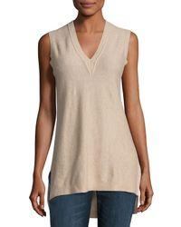 VINCE | Natural Cashmere V-neck Sweater Vest | Lyst