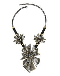 Alexis Bittar - Metallic Two-tone Crystal-studded Perennial Punk Bib Necklace - Lyst