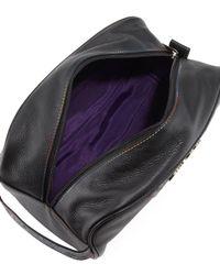 Robert Graham - Black Paisley Leather Travel Bag - Lyst