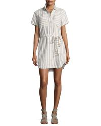 Rhythm - White Coastal Striped Cover-up - Lyst