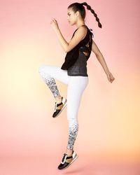 Koral Activewear Black Shift Split-back Sleeveless Top