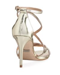 Badgley Mischka Lillian Strappy Metallic Sandal