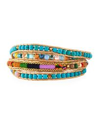 Nakamol | Blue Beaded Wrap Bracelet | Lyst