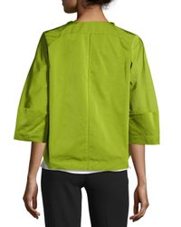 Lafayette 148 New York Green Jessica Open-front Topper Jacket