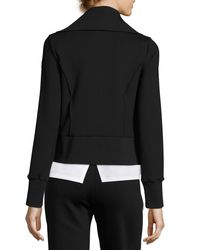 Moncler Black Stretch Jersey Zip-front Cardigan