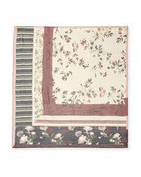 Vince Camuto - Purple Square-print Silk Scarf - Lyst